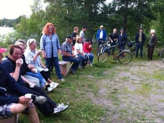 Svettiga!? cyklister vid Holmabron